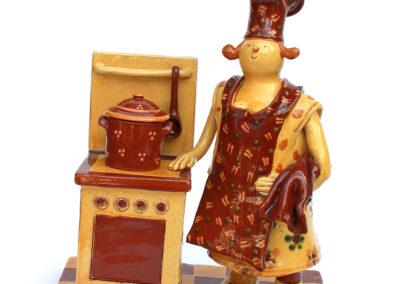 Cuisinière au torchon